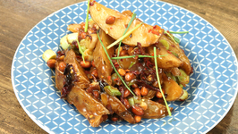 Kung Pao Potato Wedges / Sweet and Spicy Potato Wedges / Indo-Chinese Style Wedges by Varun