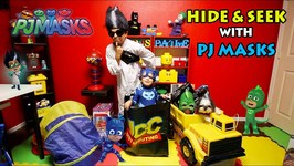 HIDE & SEEK with PJ MASKS  DEION'S PLAYTIME