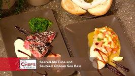 Chef Brian Krans - Seared Ahi Tuna And Sautéed Chilean Sea Bass