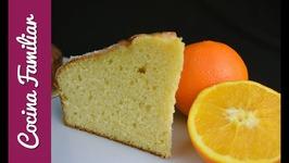 Bizcocho de naranja muy esponjoso con glaseado - Postres caseros