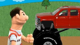 Quick Snip 13 - Monster Truck Race For Kids With Timmy And Sara