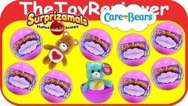 Surprizamals Care Bears Blind Bags Plush Surprise Animals Unboxing Toy Review