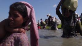 Fleeing Violence, Rohingya Refugees Cross Rivers, Swamps to Bangladesh