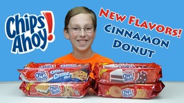 Chips Ahoy Cookie Taste Test Review - Cinnamon Donut  Smores  Oreo And Red Velvet Cookies-
