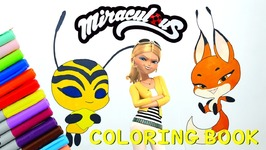 Miraculous Ladybug Coloring Book Pages Kwami Trixx Volpina Bee  Queen Bee
