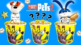 The Secret Life of Pets POPCORN MOVIE CUPS GAME w/ Surprise Toys from Pets 2 Movie