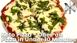 Keto Pizza - One Pan Pizza in Under 10 Minutes