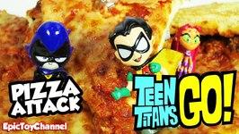 Jovenes Titanes En Acción, Ataque De La Pizza Gigante De Los Juguetes