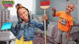 Sean Clean Your Mess Please! (Learn To Clean Chores with Goo Goo Girlz)