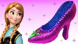ce3cc92b5c1 Play Doh Sparkle Disney Princess Frozen Anna Glitter Shoes High Heel Super  Glitter Magiclip Dress