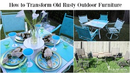 How to transform Old Rusty Outdoor Furniture