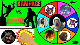 Rampage Vs King Kong Slime Wheel Game - Which Ape Movie Surprise Toys Win? Kids Opening Video