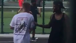 Justin Bieber Spotted Playing Basketball in Dublin