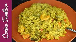 Como hacer arroz con langostinos al curry paso a paso
