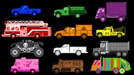 Truck Colors - Learn Colors with Trucks - Fun and Educational
