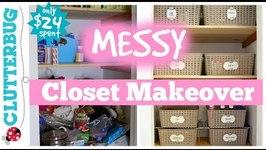 Organize a Messy Hall Closet - Messy Monday Makeover
