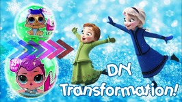 LOL Surprise Dolls Lil Sisters Series 2 Transforming Into Anna And Elsa