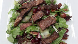 Lamb With Pecan And Grape Salad