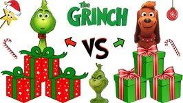 THE GRINCH MOVIE 2018: Christmas Present Game GRINCH vs MAX w/ Surprise Toys