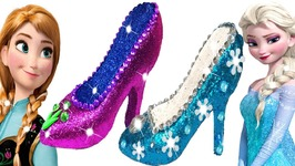 1f6a0c4d664 Play Doh Sparkle Disney Princess Frozen Elsa Anna High Heels Dress Learn  Colors Play Doh Making Kids