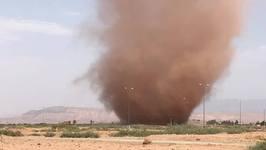 Dust Devil Seen Swirling South of Marrakesh