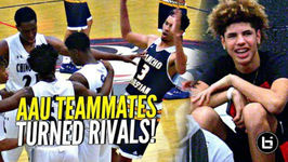 LaMelo Ball Back In Gym w Chino Hills - Watches AAU Teammates Turned RIVALS Big O vs Isaiah Mobley