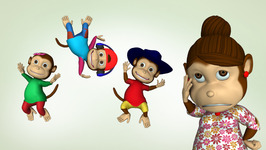 Five Little Monkeys   Children's Popular Nursery Rhymes