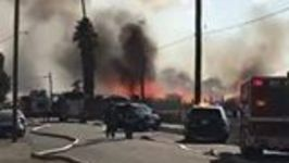 Firefighters Tackle Blaze in Stockton, California