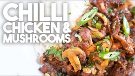 Chilli Chicken And Mushroom - Chinese Hakka Recipe