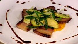 Chef Seth Arnold - Togarashi Spiced Pork Belly With Ponzu Sauce And Apple Fennel Scallop Crudo
