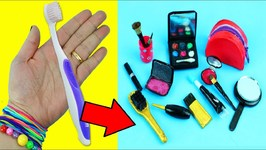 10 AMAZING REAL BARBIE DOLL MAKEUP HACKS - 13- Easy doll crafts in 5 minutes or less