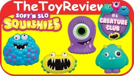 Soften Slo Squishies Creature Club Series 6 Soft n Slow Ultra Unboxing Toy Review