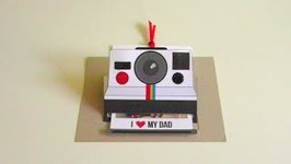 POLAROID POP UP CARD: FATHER'S DAY
