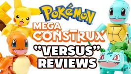 Pikachu vs Ivysaur And Squirtle vs Charmander Mega Construx Reviews