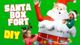 Diy Christmas Box Fort For Kids With A Giant Inflatable Santa Claus