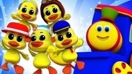 Five Little Ducks - Bob The Train Cartoons - Song For Toddlers