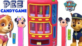 PAW PATROL Chase vs Skye PEZ CANDY MACHINE GAME with Mickey Mouse PEZ Dispensers Toys Sourz