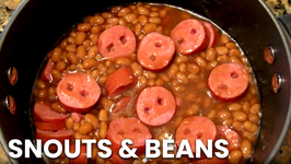 How to Make Snouts and Beans Scary Halloween Dish Tutorial