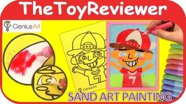 Genius Art Sand Art Painting DIY Kit Craft Art Paint Picture Unboxing