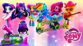 My Little Pony Sci-Twi Twilight Sparkle Science Star Class and Rainbow Dash Rockn Music Class