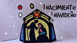 Manualidades para Navidad, Cómo hacer un Portal de Belén de Vidriera de Papel, Nacimiento Navideño