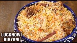 Lucknowi Mutton Biryani / Goat Meat Biryani Recipe / Dum Biryani