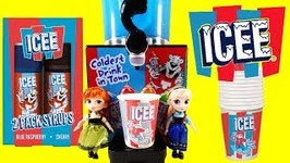 Anna and Elsa Make ICEE with the Icee Machine and Frozen 2 Surprises