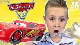 Disney Cars 3 Movie Gas Out Game Lightning Mcqueen And Cars Toys Unboxing