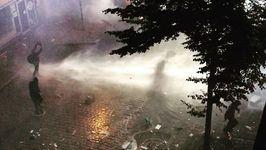 Protesters Sprayed by Water Cannons During G20 Demonstrations