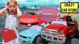 Crazy Car Store  Maya Goes Car Shopping