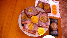 Brownie con naranja confitada