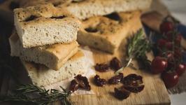 The Best Italian Focaccia Bread Recipe W/ Sun Blushed Tomatoes And Rosemary