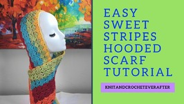 Left Hand Sweet Stripes Hooded Scarf Free Pattern Workshop