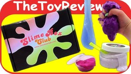 Slime Box Club Subscription Box DIY Candy Glitter Squishy Goo Unboxing Toy Review by TheToyReviewer